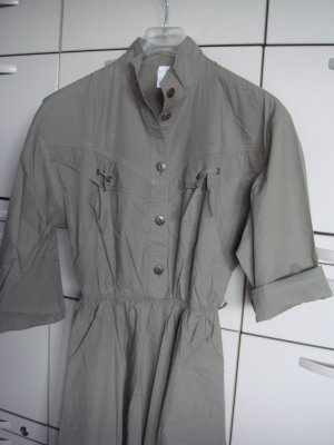 Vintage Robe chemise gris vert