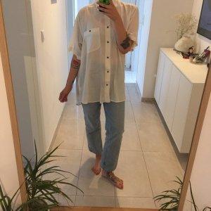 Vintage Sommer Oversize Silk Bluse Seide