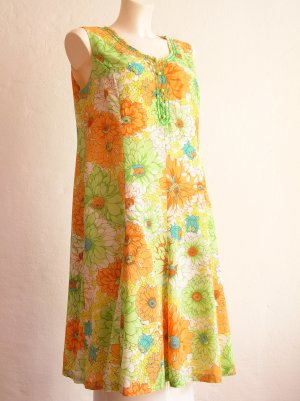 Vintage Sommerkleid A-Linie Gr. L - XL