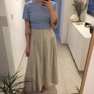 High Waist Skirt cream