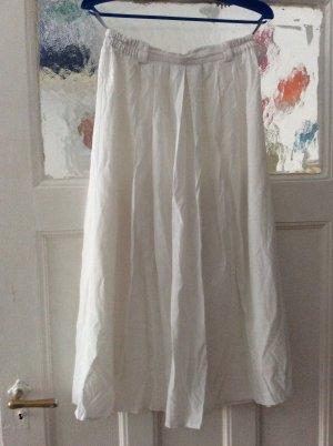 Avitano Midi Skirt white mixture fibre
