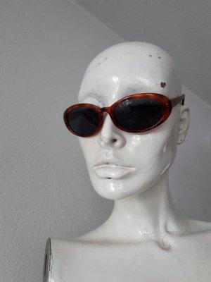 Vintage Occhiale da sole ovale marrone-cognac