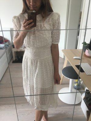 Vintage Spitze Weißes Kleid