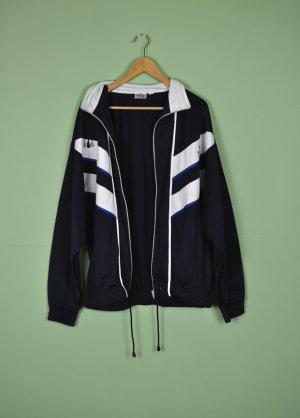 Vintage Veste de sport noir-bleu