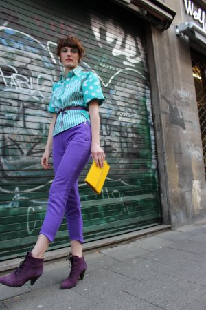 Strapped Trousers multicolored