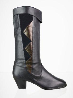 Vintage Stiefel mit Bronzefarbener Applikation 40