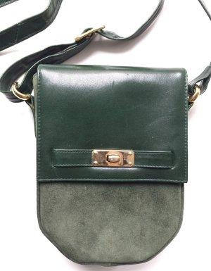 Vintage Stil, grüne Wildleder / Leder crossbody oder Schulter Tasche