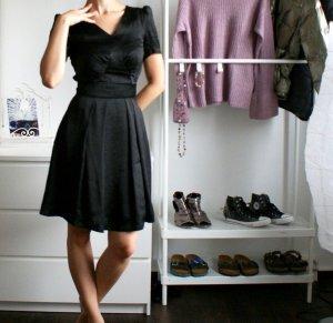 Vintage Stil Kleid Schickes Abendkleid mit Puffärmeln XS