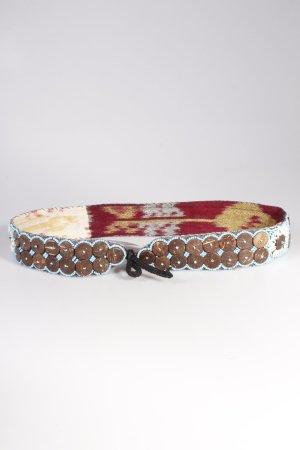 Vintage-Stoffgürtel Muscheln und Perlen