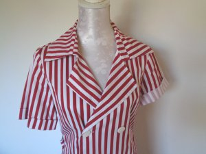 Shirtwaist dress red-white cotton