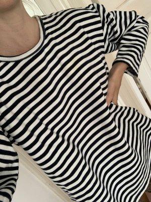 Vintage Streifenpullover Matrosen-Sweater Streifen Blau-Weiß-gestreift M
