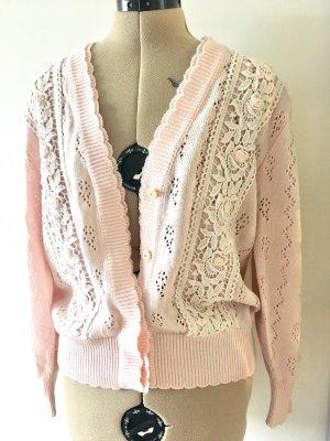 beclaimed vintage Cardigan tricotés rose clair