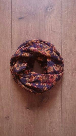 Vintage Strick Knit Loop Rund Schlauch Schal bunt