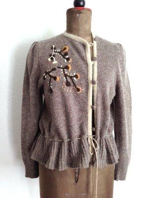 Vintage Strickjacke aus Wolle und Angora, Gr.40/ 42