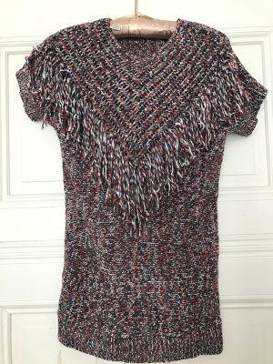 Vintage Strickkleid Kleid Coachella Fransen Tweed