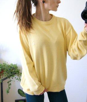Vintage Strickpullover gelb, oversized Pullover casual, blogger