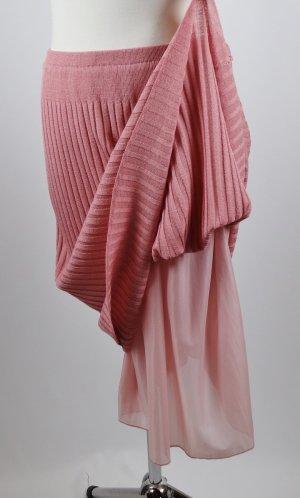 Vintage Knitted Skirt dusky pink-pink mixture fibre