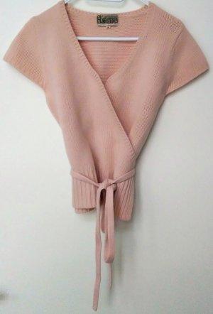 Noa Noa Cache-cœur en tricot rosé laine