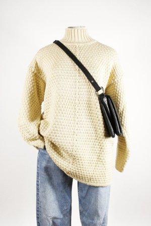 Vintage Studio Pullover A/W Creme High Neck Winter Strick Rollkragen Off White
