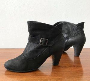 ◉ Vintage Style Leder Ankle Boots / Stiefeletten ◉