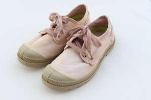 Vintage-Style! Palladium PAMPA OXFORD LP Sneakers, Salmon Pink/Putty 670, Gr. 39