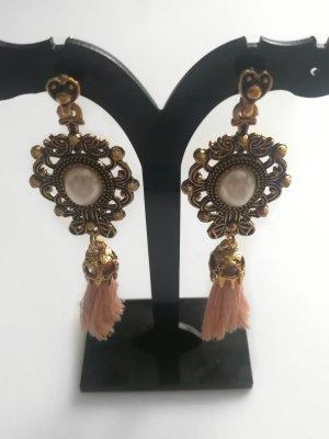 Vintage Style Quasten Ohrringe mit Perlen Neu