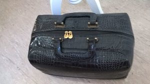 Vintage Weekender Bag black leather