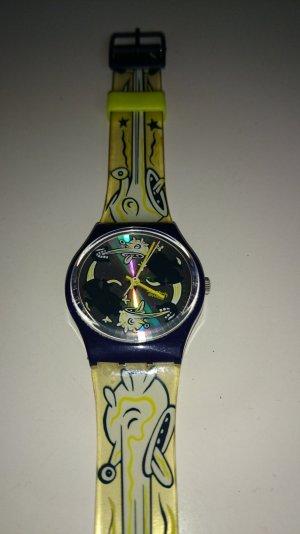 Vintage swatch 90er neon und dunkelblau
