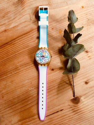 Swatch Self-Winding Watch multicolored synthetic material