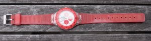Swatch Montre rouge-rouge framboise