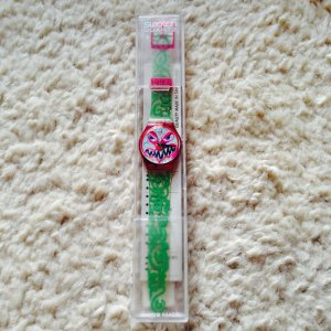 Vintage Swatch Monster Time by Kenny Scharf , 1994