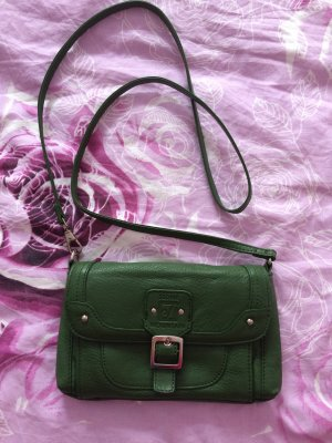 Mini Bag forest green leather