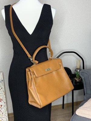 Crossbody bag cognac-coloured