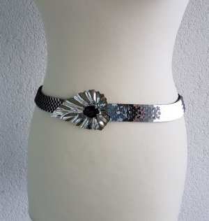 Vintage Taillengürtel Silber Schuppen