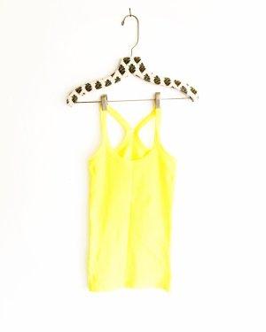 vintage tank top / feinripp / spagetti shirt / gelb / yellow