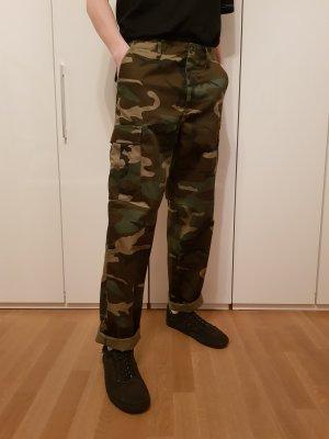 Vintage Tarnhose Skaterhose Skate Hose Camo Camouflage Militär Arbeitshose