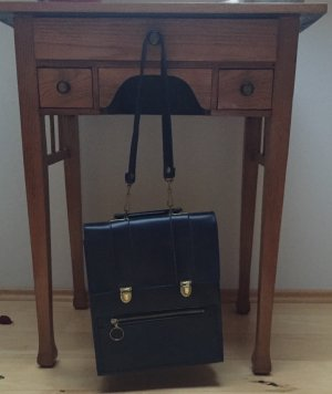 Vintage Carry Bag dark blue-gold-colored