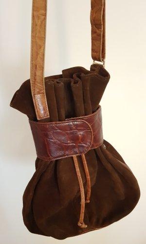 Vintage Tasche, Beuteltasche Leder