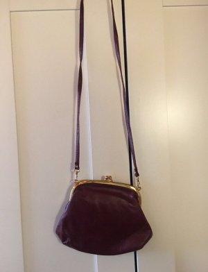 Vintage Tasche dunkelrot