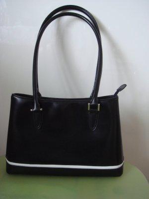 Vintage - Tasche Handtasche Shopper Bac schwarz weiß 90er Jahre Fest Theater