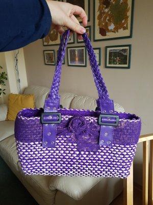 vintage tasche lila neuwertig