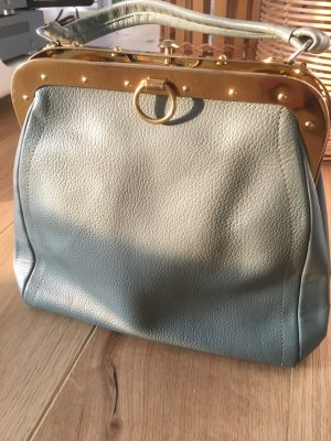 Carry Bag sage green-green grey leather