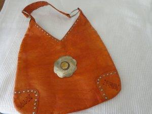 Schoudertas donker oranje