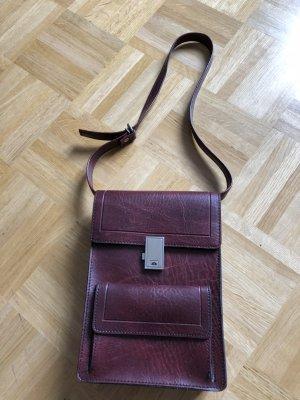 Vintage Tasche Schultertasche Handtasche Leder 50er/60er