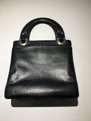 VINTAGE Tasche Schwarz mit roten Innenfutter