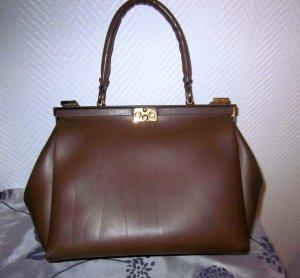 Vintage Tasche Shopper like Kelly Bag Kellybag Henkeltasche 1 Henkel mittelbraun braun