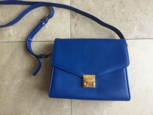 MCM Shoulder Bag blue-gold-colored leather