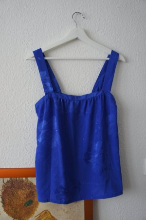 vintage top shirt blau M L 40 42 44 blumen