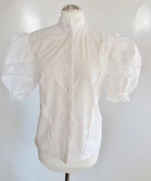 Blouse en dentelle blanc tissu mixte