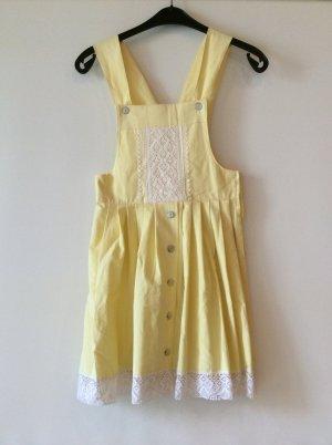 Babydoll-jurk wit-sleutelbloem